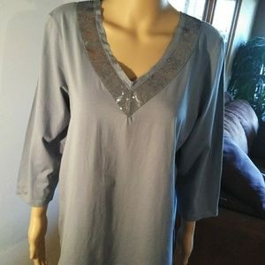 Chico's sequined blue Top